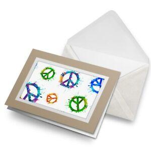 Greetings-Card-Biege-Paint-Splat-Peace-Symbol-Hippy-Art-16253