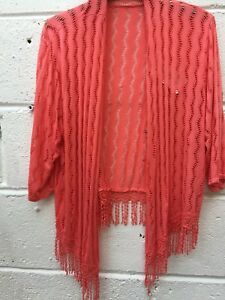 Lagenlook Holiday Tassels Cardigan Shrug Bolero In Cruise Made Italy One Size rXrY1wx