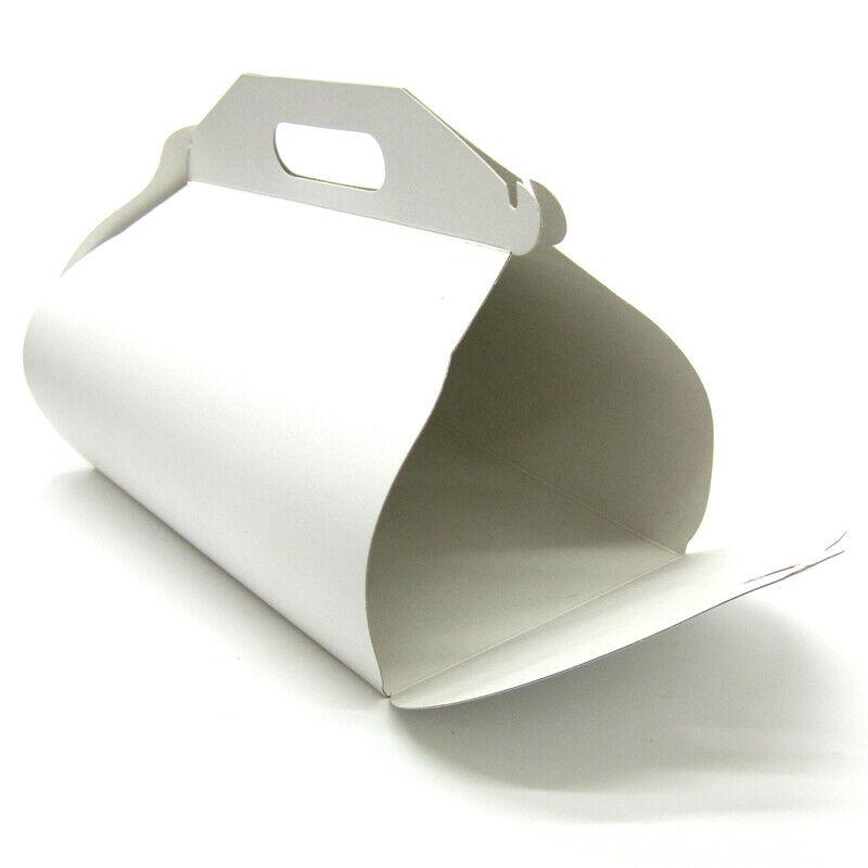 50 Kuchenboxen Kuchentaschen Trageboxen Tortenboxen Pappe Einweg mit Pappteller
