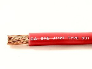 2 Ga Bare Copper Sgx Battery Cable Red-100Feet