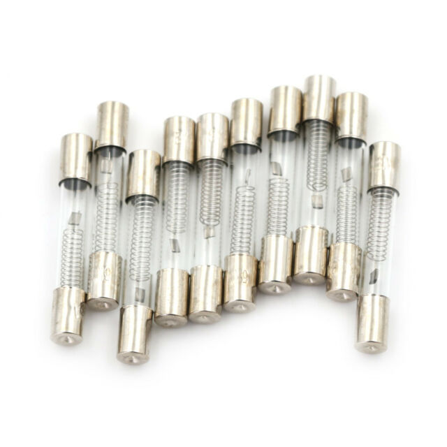 10Pcs 6 x 40mm Axial Glass 800mA 0.8A 5KV Fuse Tubes for Microwave Oven DP