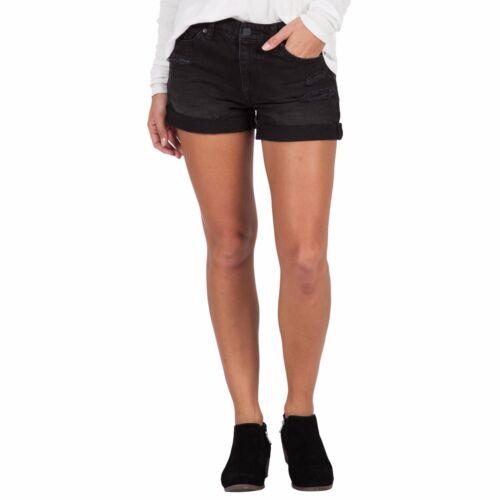 2016 Short 50 5 Stoned Volcom lavato Taglia Worn Midi Boyfriend Black Womens NWT Frnxq1wYXr