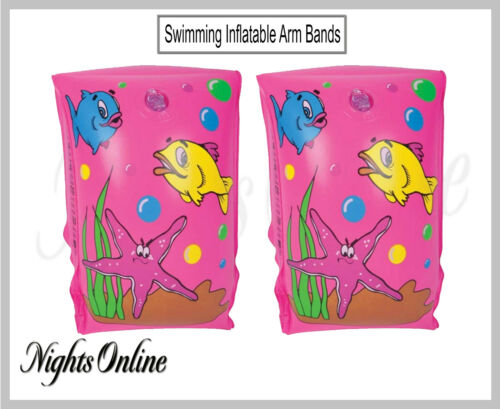 New Swimming Inflatable Arm Bands, Blow Up Pool Kids Armbands For Ages 3-6