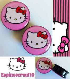 Dilataciones-Hello-Kitty-a-rosca-ear-plug-cat-gatito-rosa-ear-tunnel-sweet-pink
