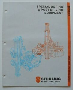 STERLING-Boring-amp-Post-Driving-1986-dealer-brochure-catalog-English-USA