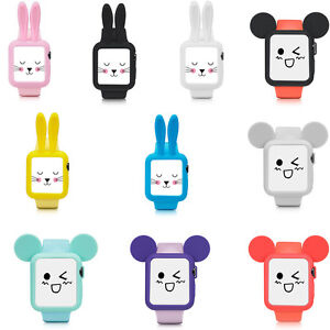 outlet store e9834 39d56 Details about Silicone Mickey Mouse Watch Case Cover for Apple Watch series  4 3 38/42/40/44mm