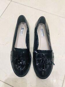 Women-s-PRIMARK-Patent-Leather-Black-Loafers-UK-5-EU38-Tassels