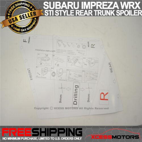 Fit 15-19 Subaru WRX OE STI Factory Style Rear Trunk Spoiler ...