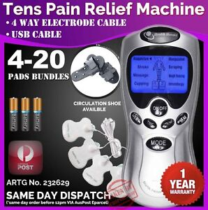 TENS-Machine-Unit-Pain-Relief-Massager-ACUPUNCTURE-Extra-PADS-BUNDLES-1YR-WRTY