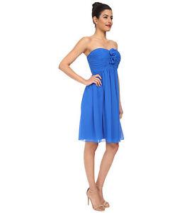 BLUE STRAPLESS DRESS SIZE 14