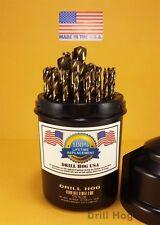 """Drill Hog USA 29 Pc Cobalt Drill Bit Set M42 Drills 1/16""""-1/2"""" Lifetime Warranty"""