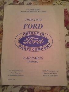 vintage   ford car parts catalog  original obsolete ford parts  ebay