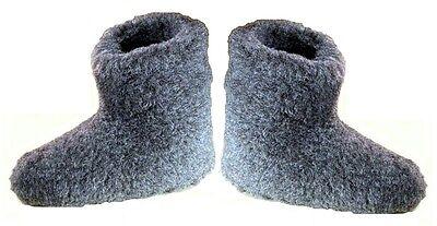 UK 3 - Unisex Pantoffeln Schaf Wolle Schuhe Stiefel schwarz - Weihnachtsgeschenk