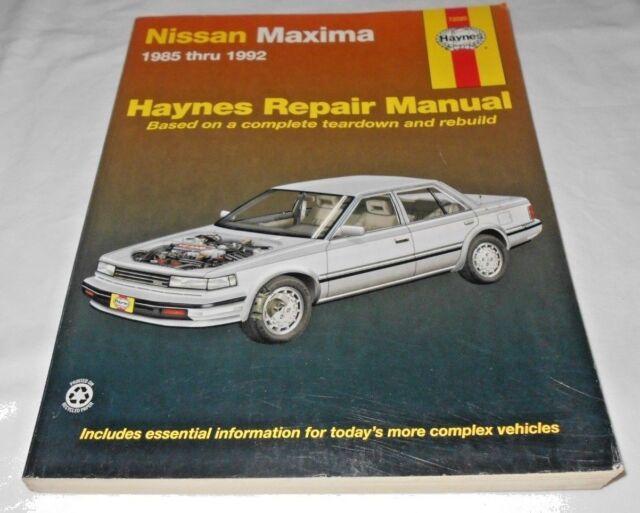 repair manual nissan maxima
