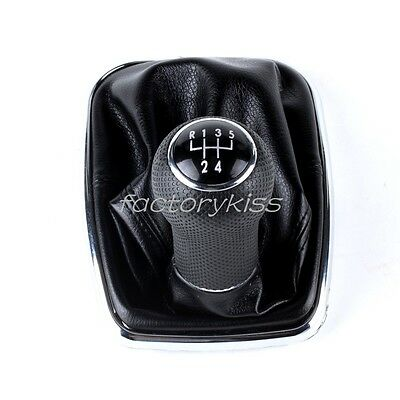 Shift Knob Shifter Gear Boot for 1999-2005 VW Mk4 Golf GTI R32 Jetta IUK
