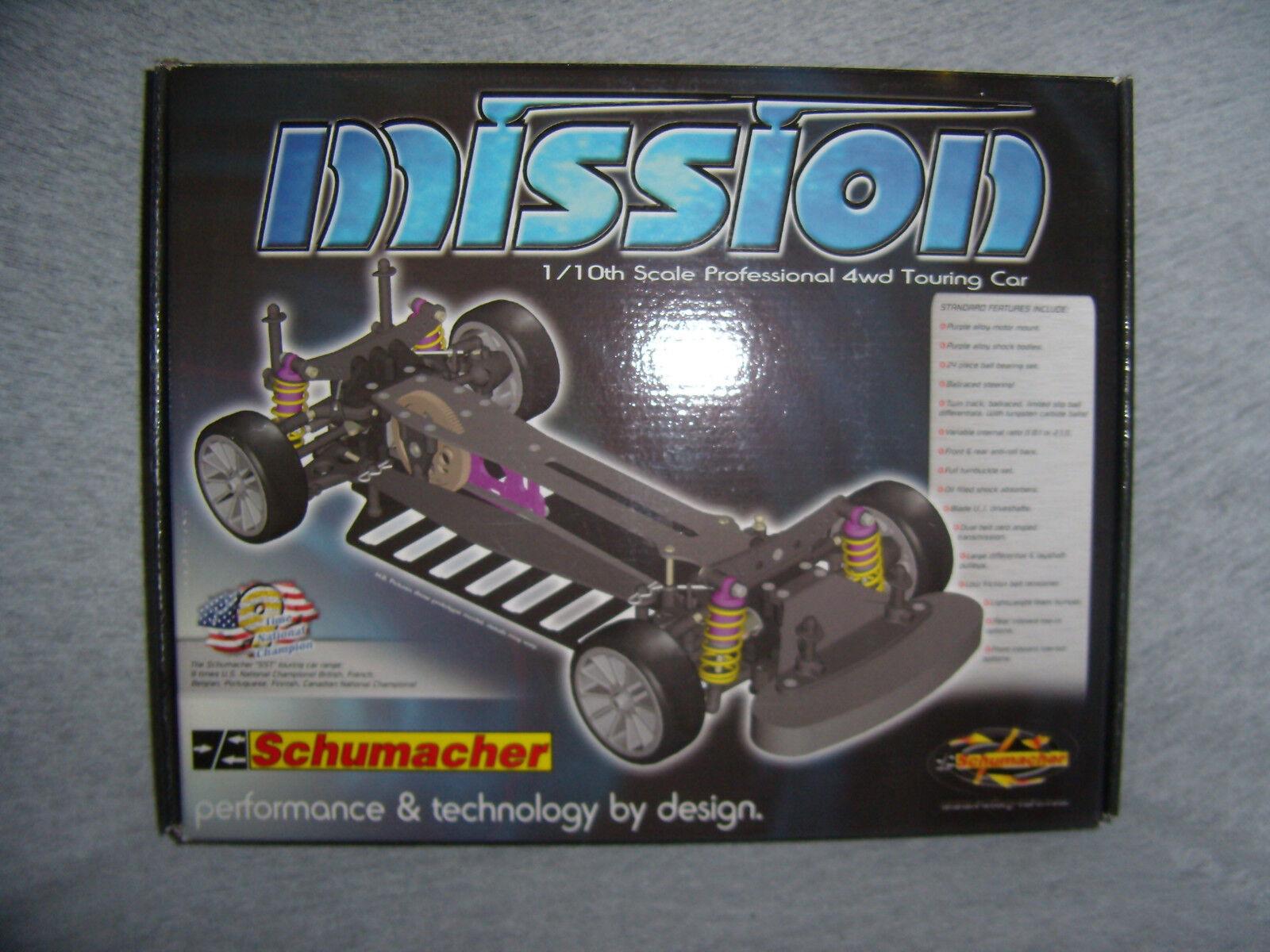 Vintage Schumacher K026F Mission S1 Pro Touring Kit de chasis de carbono