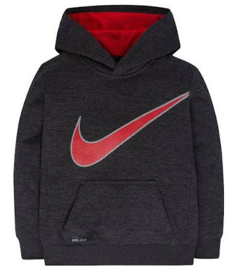 c649fd75 Boy's size 4 Nike Therma Dri-Fit long sleeve grey pullover hoodie. MSRP $44