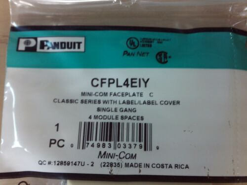 Qty 10 Pan-Net CFPL4EIY Mini-com Faceplate Single Gang Electric #1B-1088-C11