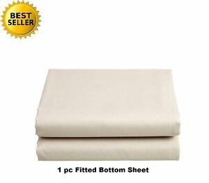 Ivory Solid Extra Deep Pkt Sheet set 1000 TC Egyptian Cotton