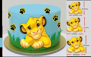 Strange Edible Simba Lion King Large Wafer Cake Topper Birthday Image Funny Birthday Cards Online Bapapcheapnameinfo