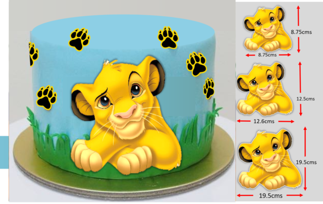 wafer sheet Edible Round Cake Topper Lion King Topper icing sheet.52