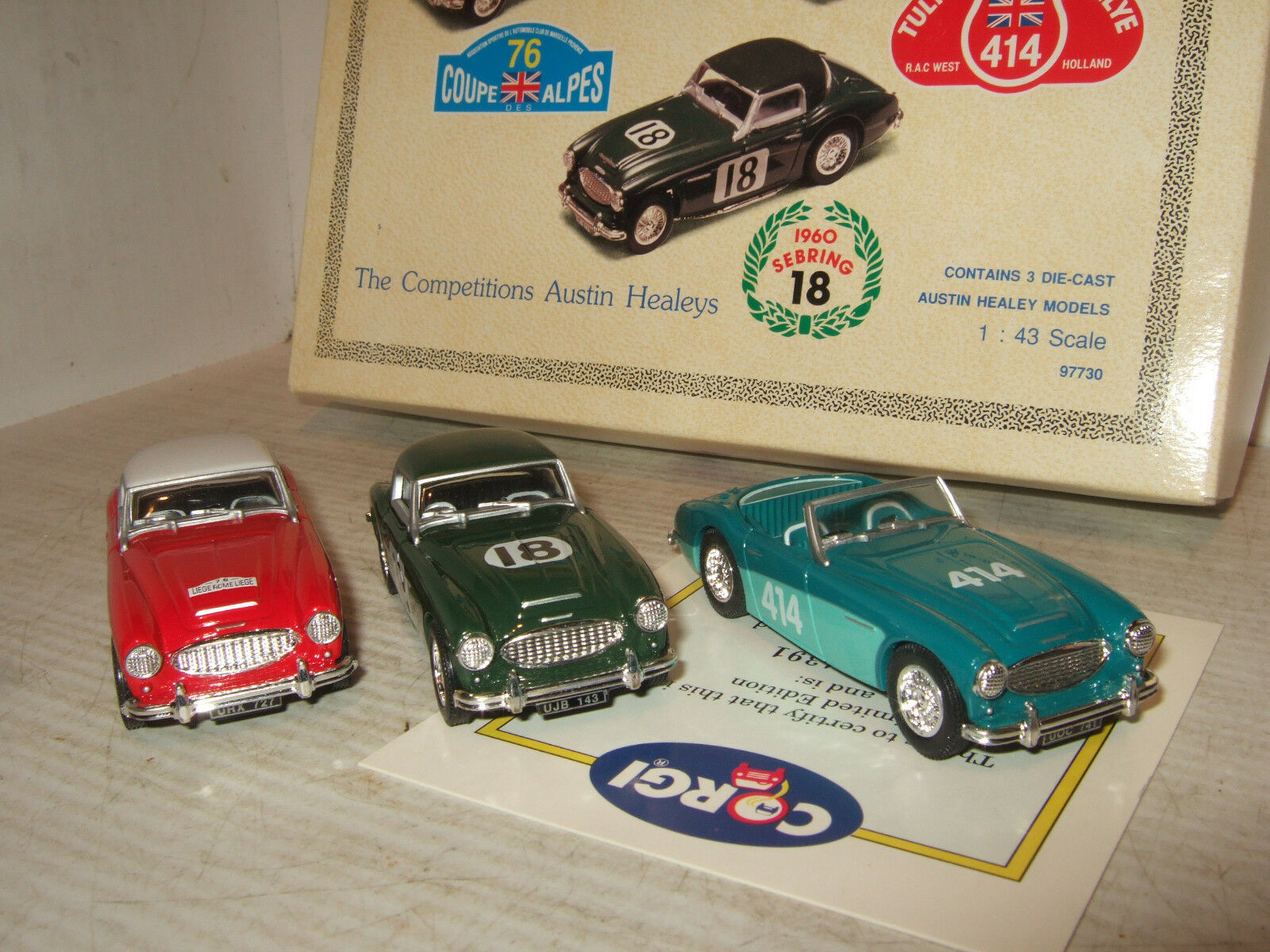 Corgi 97730 Austin Healey Competitions set of 3 models in 1 43 Scale