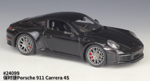 Welly-1-24-Porsche-911-Carrera-4S-Black-Diecast-Model-Sports-Racing-Car-NIB