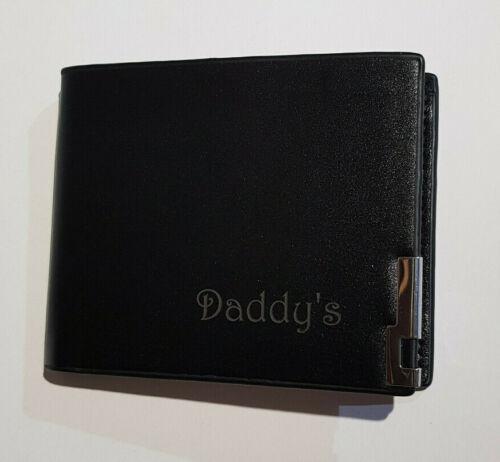 Laser Engraved Wallet Personalised Aniversary Graduation Birthday Gift mens
