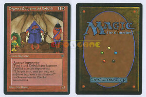 Magic: The Gathering, MTG) Losse kaarten Kobold Overlord Leggende ITA Magic Signore Supremo dei Coboldi