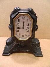Ingraham Mantel Clock Ingraham Mantel Clock Black Surround Still Working Antique