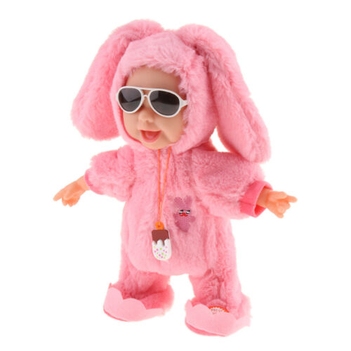 Creative Electronic Singing Dancing Plush Doll Baby Toy Pink