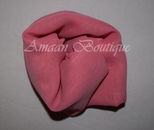 NUOVA Sciarpa Tinta Unita Chiffon Hijab Alla Moda Grande Maxi burqa Donna Sciarpe