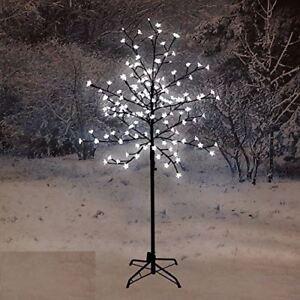 NUOVO-120-cm-LED-Blossom-Albero-Bianco-Decorazione-Natale-NATALE-INTERNI-ESTERNI-CASA