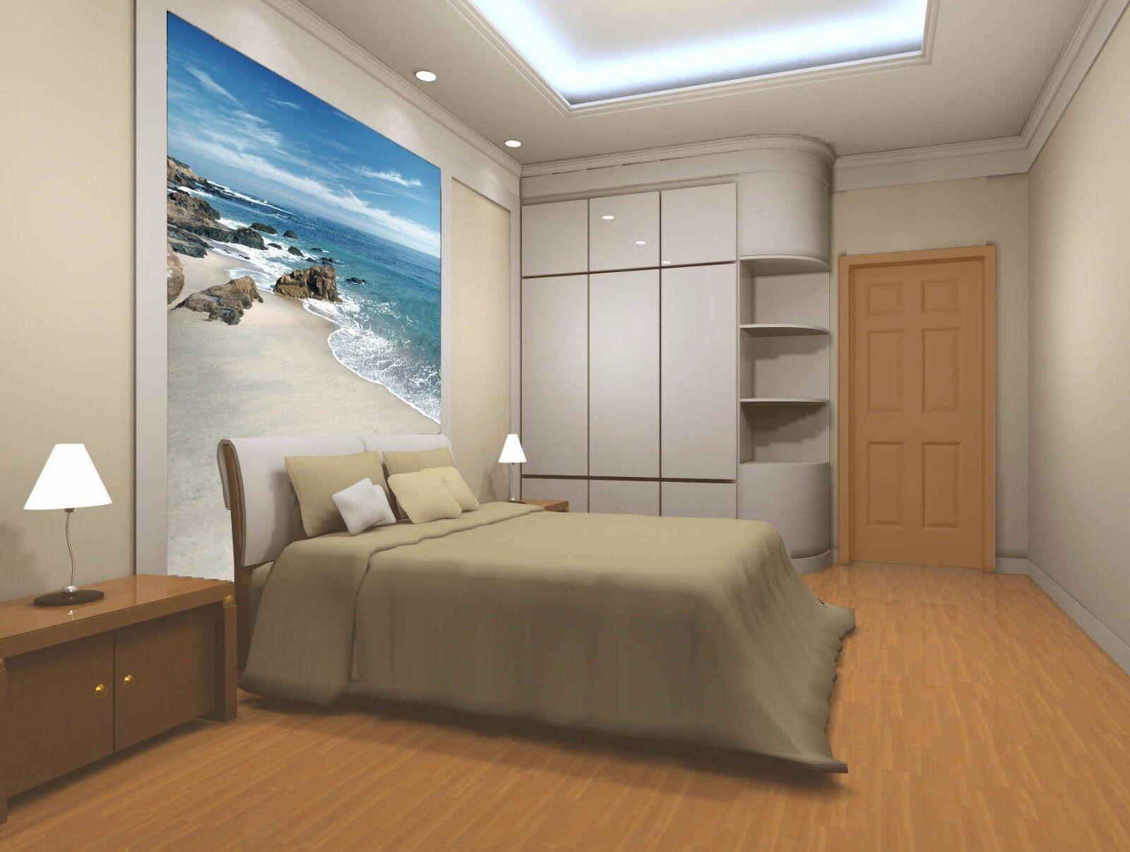 3D Felsen Meer Strand 7 Tapete Wandgemälde Tapete Tapeten Bild Familie DE Summer