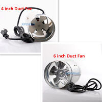 """NEW 4"""" 6"""" Inch Duct Fan Air Cooling Exhaust Vent Hydroponic Inline Blower Quiet"""