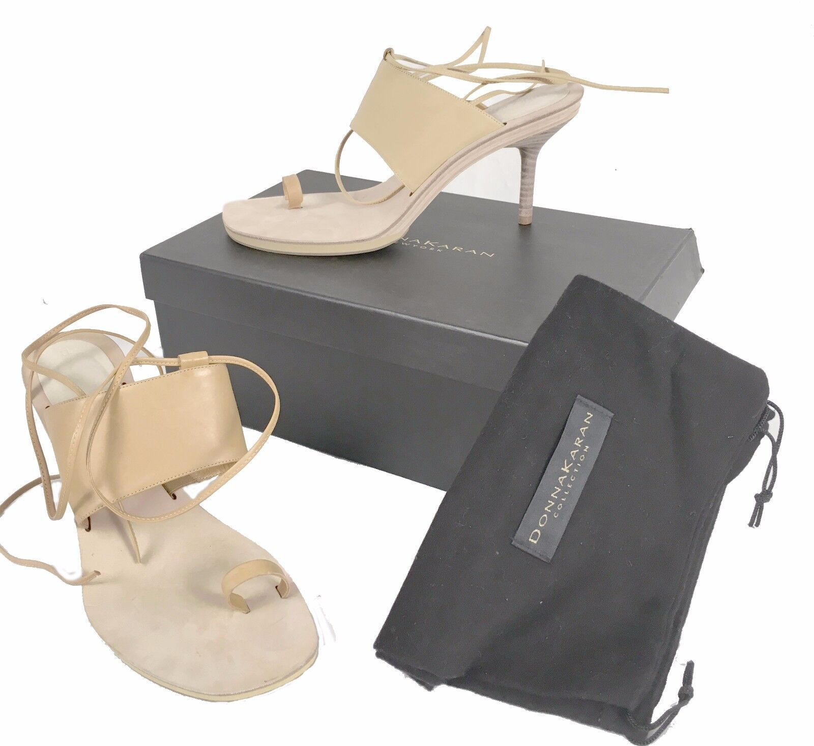 NEW NEW NEW Damenschuhe Karan New York Collection Schuhes  9.5  Strappy Open Toe Heels  Tan 37b25a