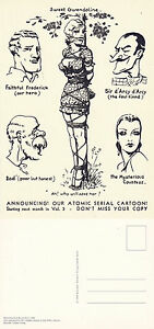 BIZARRE-MAGAZINE-ILLUSTRATION-FROM-NUMBER-2-1946-ADVERTISING-POSTCARD