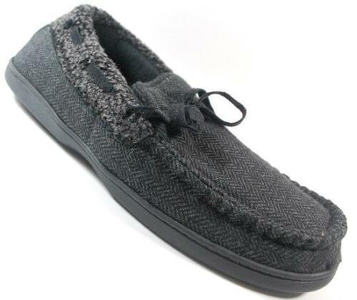 NEW Mens UNBRANDED GRAY Slip On  Moccasin Slippers Shoes SZ 10-11