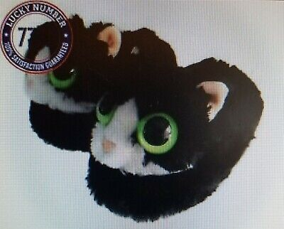 Wiggle Warms Rocky the Raccoon Kids Slip-On Slippers Fuzzy Plush Animal Slippers