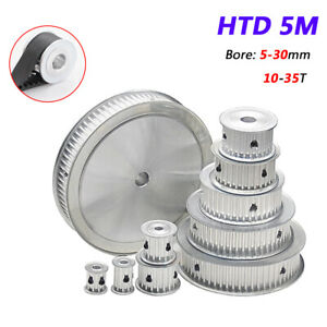 CNC 3D Printer for 15//20mm Wide 10-35T HTD 5M Timing Belt Pulley 5-30mm Bore