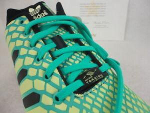 new concept 10d90 fd966 Details about Adidas ZX Flux, Reflective Glow Running, Torsion, Green /  Yellow, AQ8212, Sz12