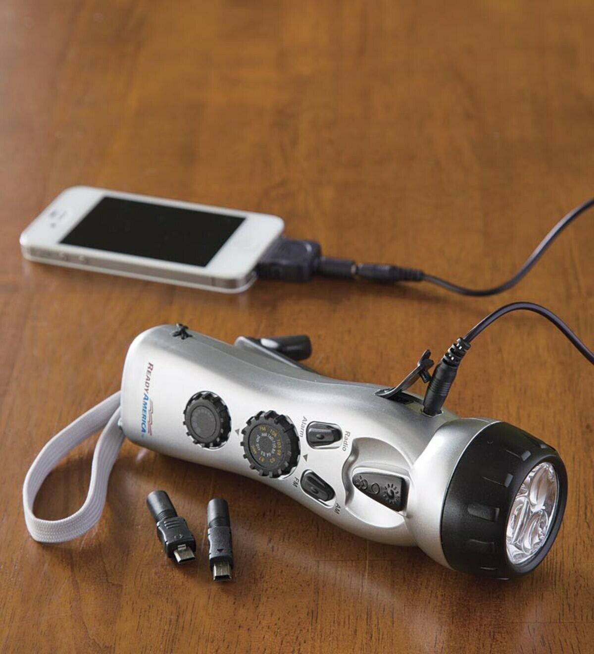 Emergency Power Charging Station Hand Crank USB Port Flashlight AM FM Radio