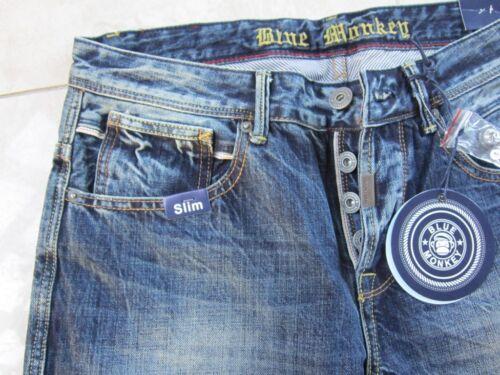 Modell EDEN 32 NEU mit Etikett 34er Lä. BLUE MONKEY Jeans Herrenjeans