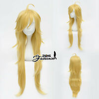 Panty And Stocking Panty Golden Anime Cosplay Curly Hair Full Wig + Free Cap