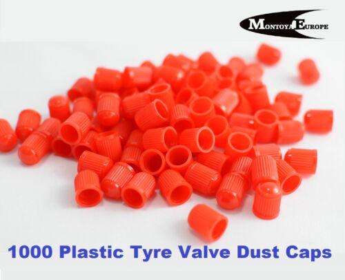1000 Plástico neumático válvula Polvo Caps rojo