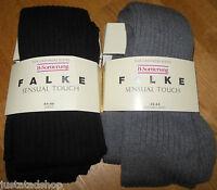 FALKE Sensual Touch cotton silk cashmere winter tights black BNWT M/L