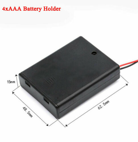 Details about  /2 3 4  x AAA Enclosed Battery Holder Case Box Storage With Switch//Cover//Wire