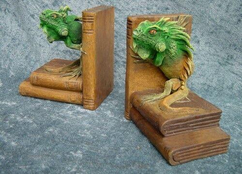 5 5 5 Set's 16cm Buch Stütze Bücherstütze Holz Leguan Echse rotuziert von 399,- | Adoptieren  231b93