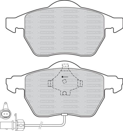OEM SPEC FRONT REAR PADS FOR VOLKSWAGEN PASSAT 1.9 TD 4 MOTION 130 BHP 2001-05