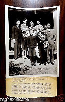 COUNT KENTARO KANEKO & FAMILY HONORED BY EMPEROR Tokyo Japan 1934 Press Photo